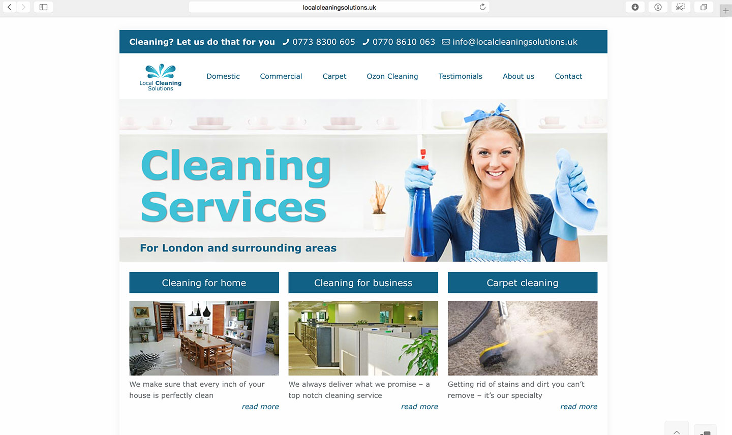 local-cleaning-web-design