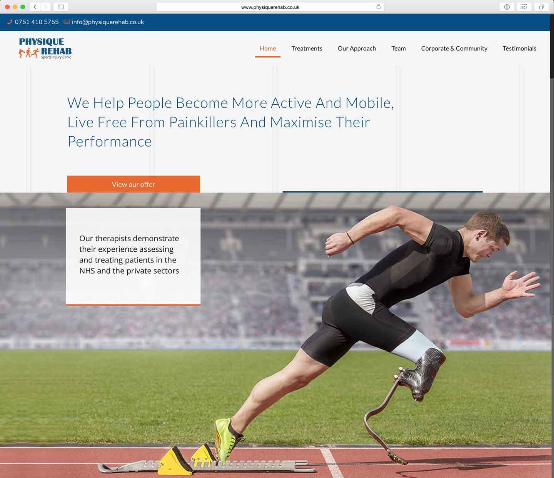 Physique-Rehab-website-design